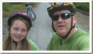 Megan and I on the rail trail in York County