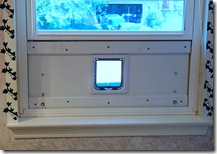Installed in the window