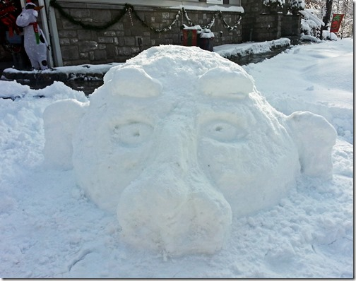 Snow Troll Head