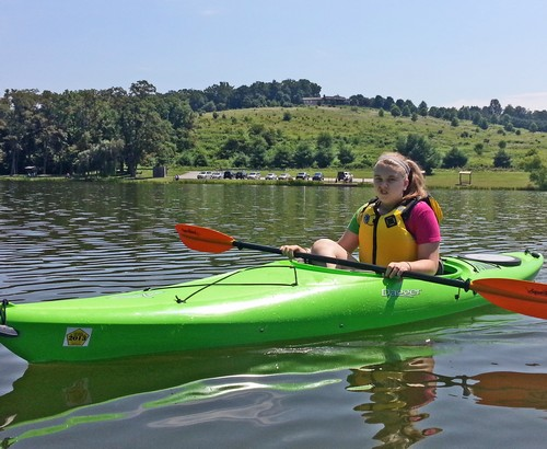 """Megan's """"I love kayaking"""" face"""