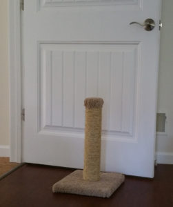 This scratching post makes kitties sad.
