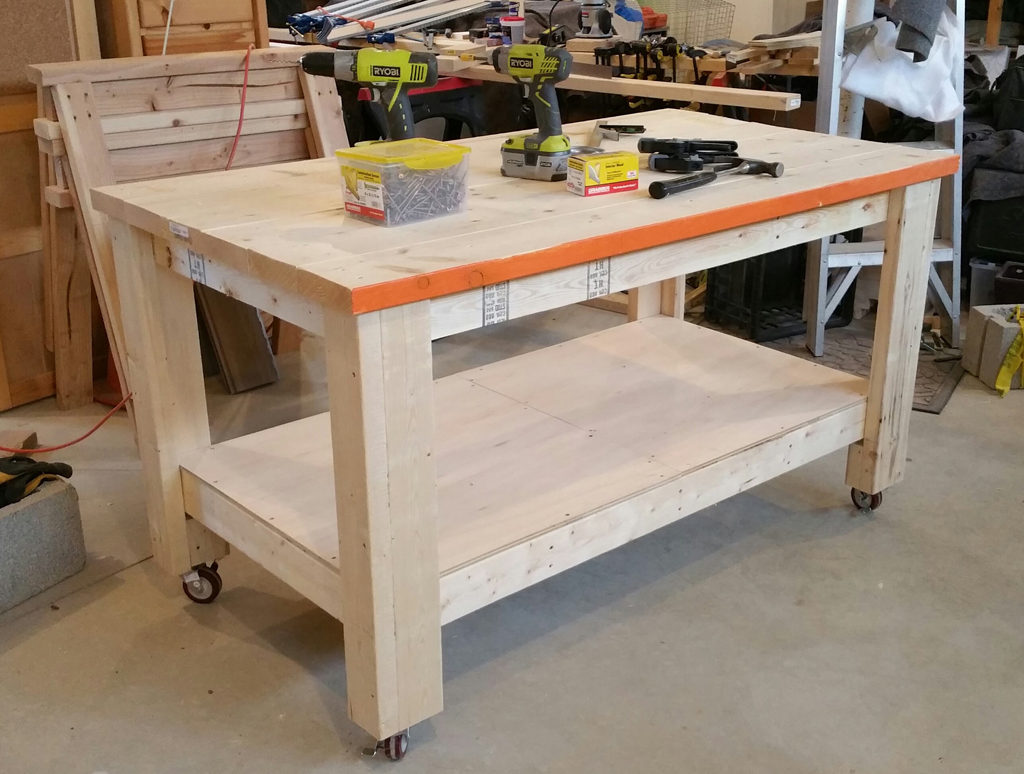 Rolling Garage Workbench