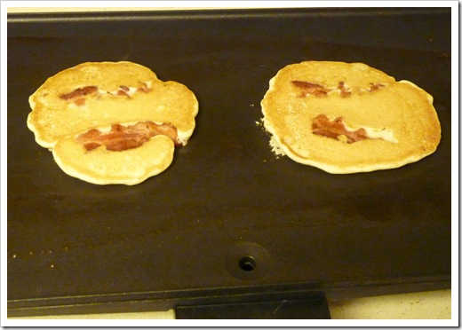 Bacon Pancakes - On the Griddle