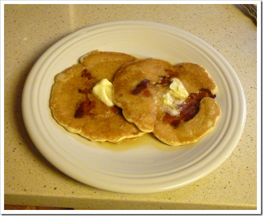 Bacon Pancakes - Plated and ready to eat!