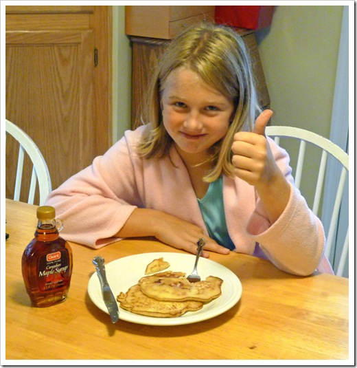Bacon Pancakes - Thumbs up!