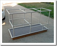 The assembled PVC frame!