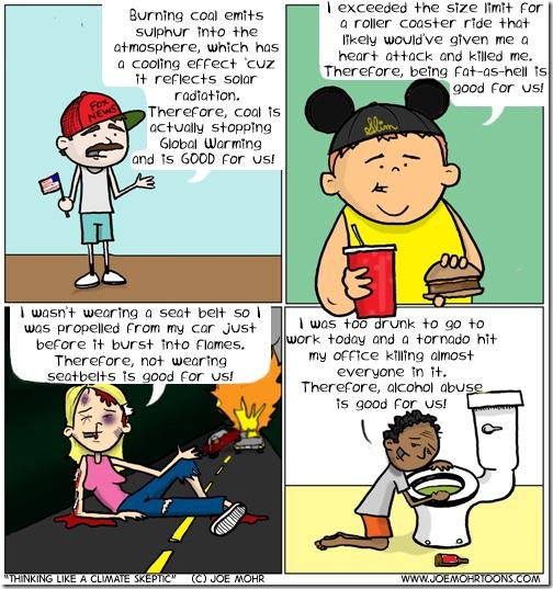 'Thinking' Like a Climate Skeptic - Joe Mohr Cartoons