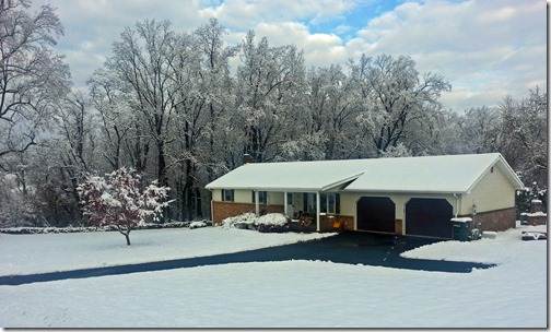First snow in our new place