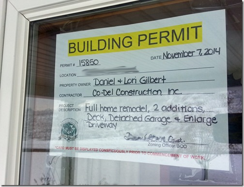 Our building permit