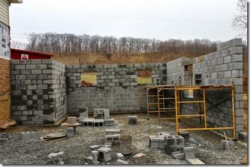 Master bedroom wing foundation wall