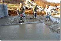 Spreading the concrete around