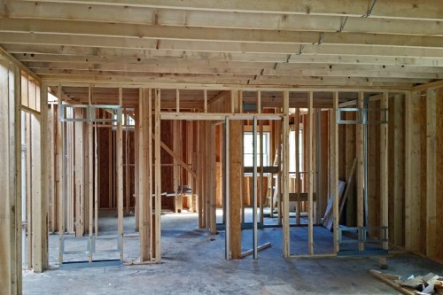 Master bedroom framing