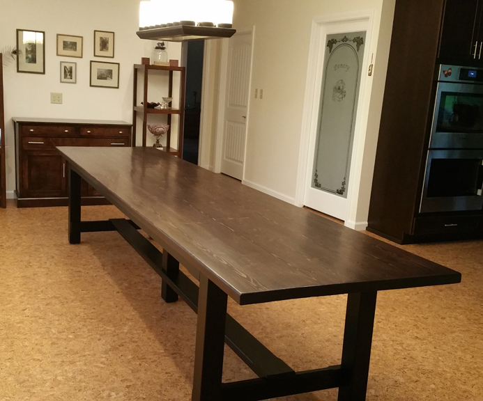 The finished dining room table