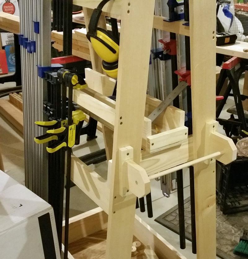 Rolling Clamp Rack Shelf